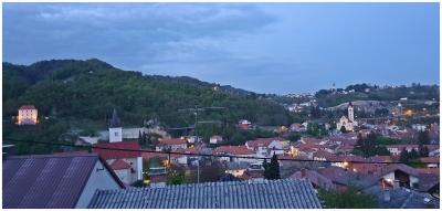 Žarko Miljan, Krapina - Predvečernja krapinska panorama s prozora, travanj 2020.