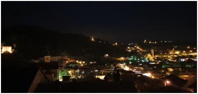 Žarko Miljan, Krapina - Noćna krapinska panorama s prozora, travanj 2020.