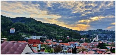 Žarko Miljan, Krapina - Jutarnja krapinska panorama s prozora, travanj  2020.